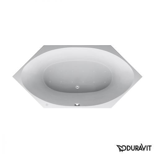Duravit 2x3 Sechseck-Whirlwanne, Einbauversion mit Air-System