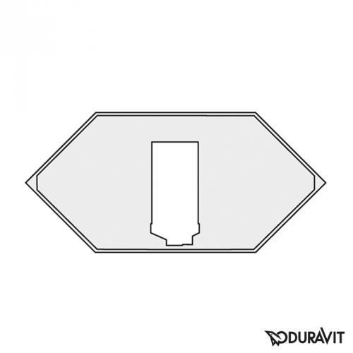 Duravit 2x3 Wannenträger für Sechseck-Badewanne