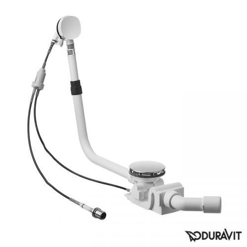 Duravit Ab- und Überlaufgarnitur Quadroval, mit Wanneneinlauf, Shower + Bath, Komplett-Set