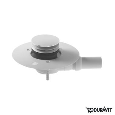 Duravit Ablaufgarnitur für bodenbündige Duschwannen, Komplett-Set weiß