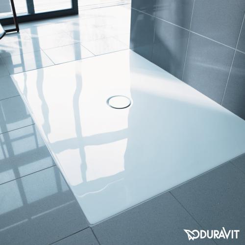 Duravit DuraPlan bodenbündige Duschwanne weiß