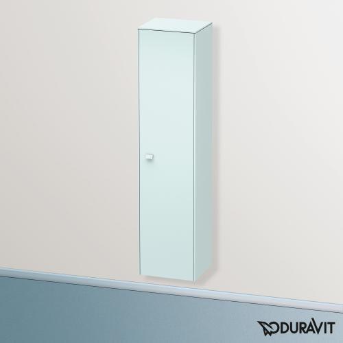 Duravit Brioso Hochschrank mit 1 Tür Front lichtblau matt/Korpus lichtblau matt, Griff lichtblau matt