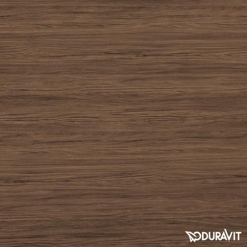 Duravit Brioso Waschtischunterschrank mit 1 Tür Front nussbaum dunkel/Korpus nussbaum dunkel, Griff chrom