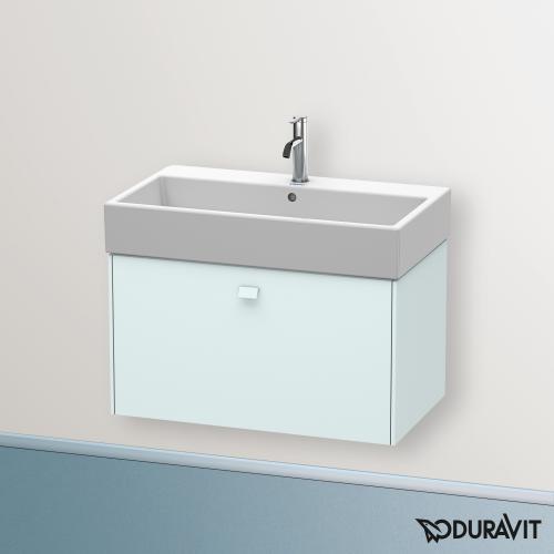 Duravit Brioso Waschtischunterschrank mit 1 Auszug Front lichtblau matt/Korpus lichtblau matt, Griff lichtblau matt
