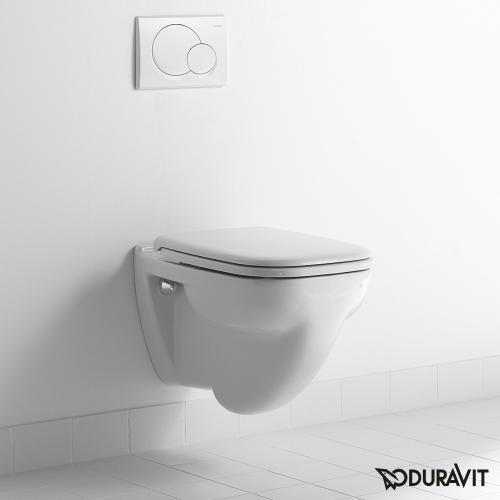 Duravit D-Code Wand-Flachspül-WC weiß