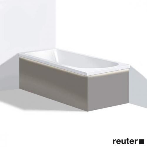 Duravit Darling New Möbelverkleidung für Bade-/Whirlwanne mit LED, Ecke links terra