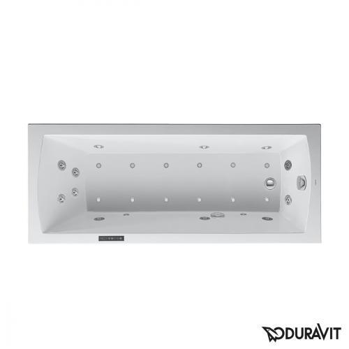Duravit Daro Rechteck-Whirlwanne mit LED-Beleuchtung, Einbauversion mit Combi-System L