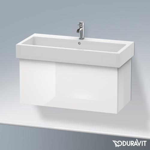 Duravit Delos Waschtischunterschrank mit 1 Auszug Front weiß hochglanz / Korpus weiß hochglanz