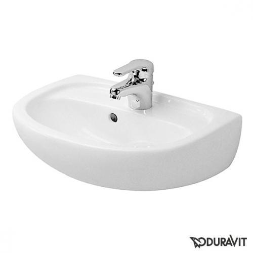 Duravit Duraplus Handwaschbecken Compact weiß, mit 1 Hahnloch