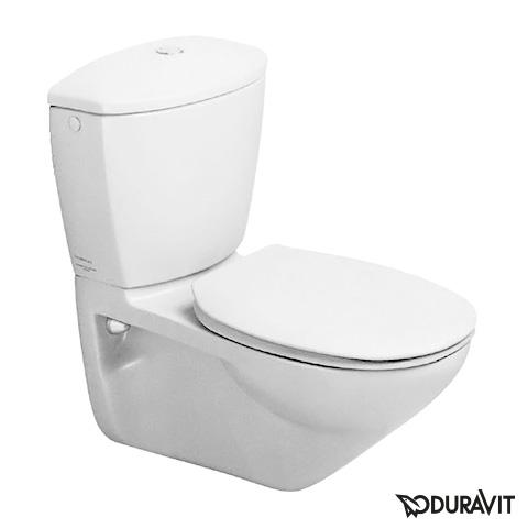 Duravit Duraplus Stand-Klosett Practica-Cascade weiß
