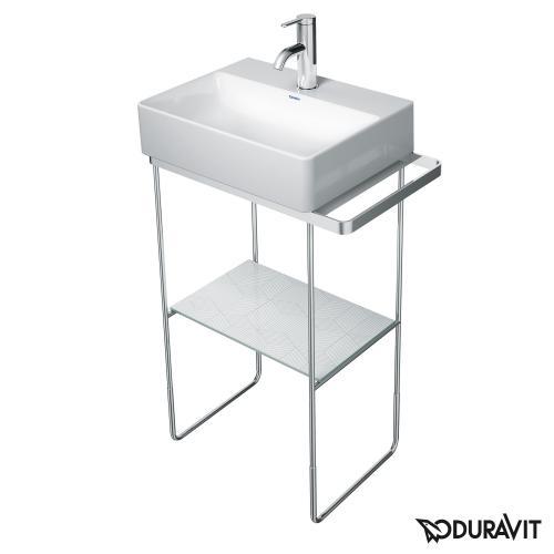 Duravit DuraSquare Metallkonsole bodenstehend für Handwaschbecken 45 cm chrom