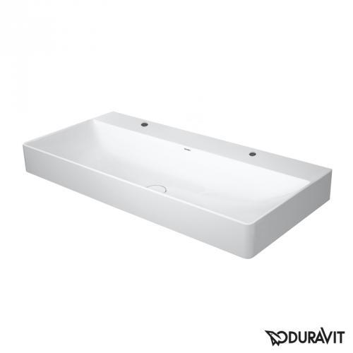 Duravit DuraSquare Waschtisch weiß, mit 2 Hahnlöchern, geschliffen