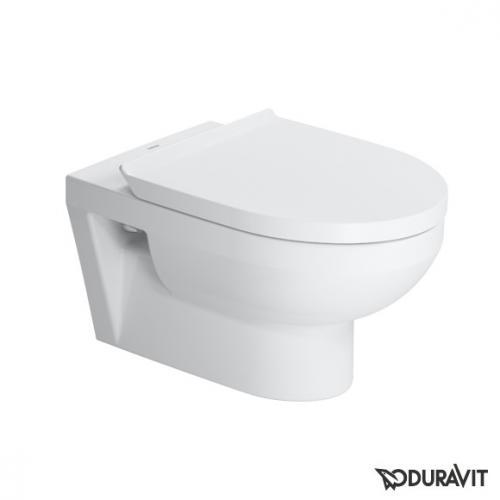 Duravit DuraStyle Basic Wand-Tiefspül-WC rimless Set mit SoftClose WC-Sitz und Durafix
