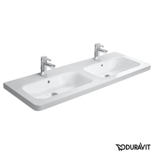 Duravit DuraStyle Doppelwaschtisch weiß 2 Hahnlöcher