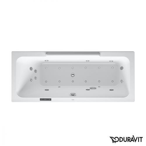 Duravit DuraStyle Rechteck-Whirlwanne mit LED-Beleuchtung, Einbauversion oder Wannenverkleidung, mit Rückenschräge links mit Combi-System L