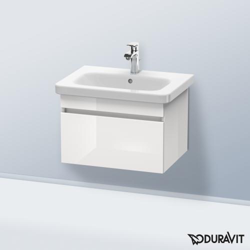 Duravit DuraStyle Waschtisch inkl. Waschtischunterschrank mit 1 Auszug weiß hochglanz, mit 1 Hahnloch