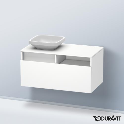 Duravit DuraStyle Waschtischunterschrank mit 1 Auszug und 1 offenen Fach Front weiß matt / Korpus weiß matt