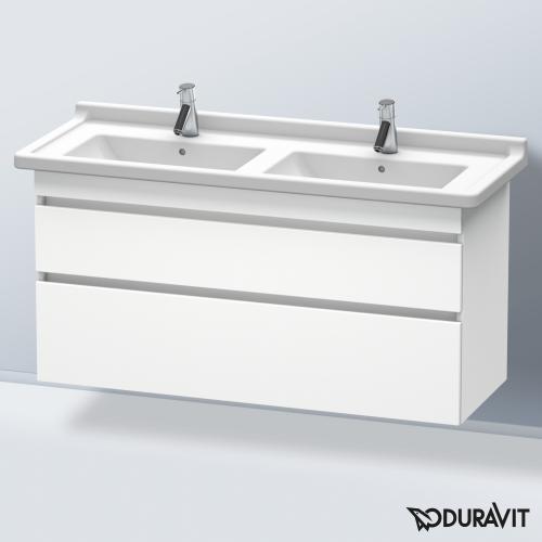 Duravit DuraStyle Waschtischunterschrank mit 2 Auszügen für Doppelwaschtisch Front weiß matt / Korpus weiß matt
