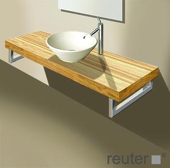 duravit fogo konsole f r 1 aufsatzbecken und einbauwaschtisch amerikanischer nussbaum. Black Bedroom Furniture Sets. Home Design Ideas