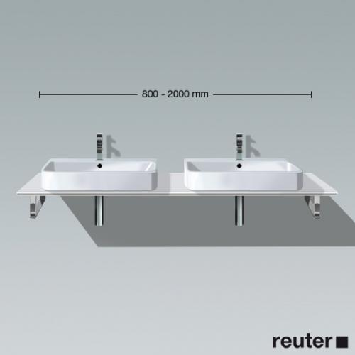 Duravit Happy D.2 Konsole Ecke links für 2 Aufsatz-/Einbauwaschtische weiß hochglanz