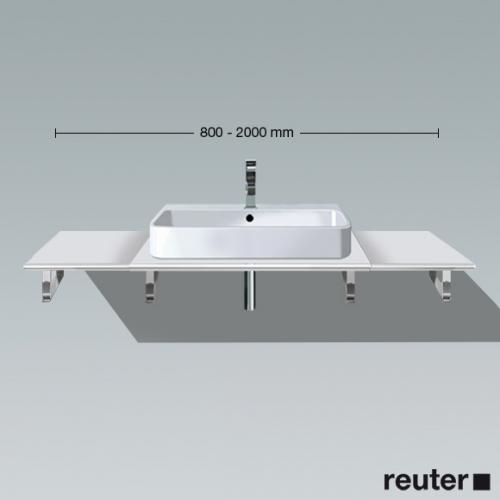 Duravit Happy D.2 Konsole Ecke links für 1 Aufsatz-/Einbauwaschtisch weiß hochglanz