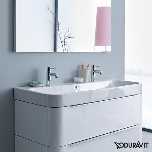 Duravit Happy D.2 Möbel-Doppelwaschtisch weiß, ungeschliffen
