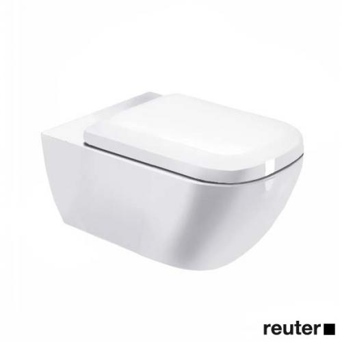 Duravit Happy D.2 Wand-WC, rimless weiß