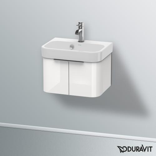 Duravit Happy D.2 Waschtischunterschrank mit 2 Türen Front weiß hochglanz / Korpus weiß hochglanz