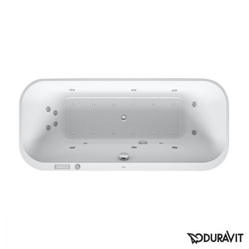 Duravit Happy D.2 Ovale Whirlwanne mit LED-Beleuchtung, Einbauversion mit Combi-System E