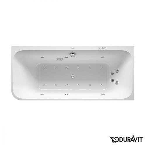 Duravit Happy D.2 Eck-Whirlwanne mit Verkleidung, Eckeinbau rechts mit Combi-System P