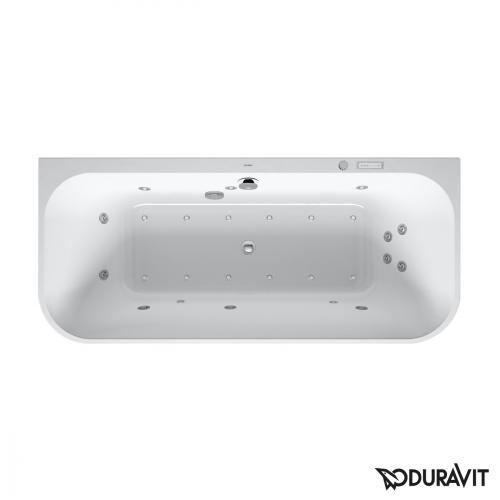 Duravit Happy D.2 Whirlwanne mit LED-Beleuchtung, mit Verkleidung, Vorwandversion mit Combi-System E