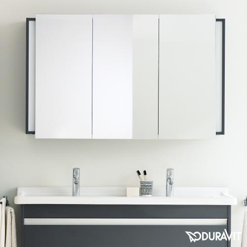 duravit ketho spiegelschrank mit beleuchtung graphit matt kt753304949 reuter. Black Bedroom Furniture Sets. Home Design Ideas