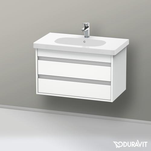 Duravit Ketho Waschtischunterschrank mit 2 Auszügen Front weiß matt / Korpus weiß matt