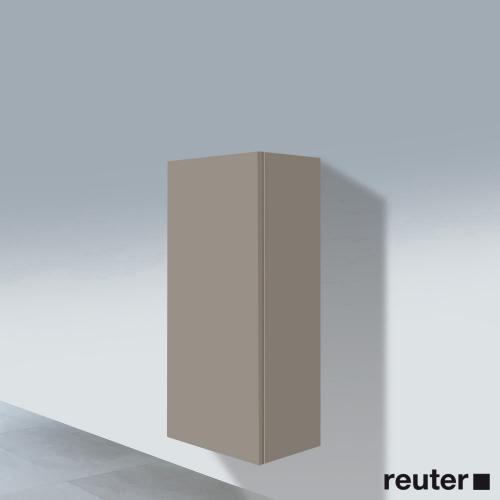 Duravit L-Cube Halbhochschrank mit 1 Tür Front terra / Korpus terra
