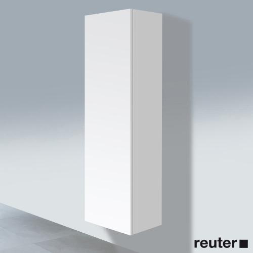 Duravit L-Cube Hochschrank mit 1 Tür Front weiß matt / Korpus weiß ...