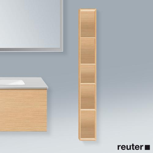 Duravit L-Cube Regalelement, vertikal eiche gebürstet