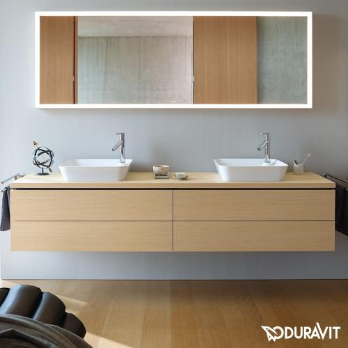 duravit l cube spiegel mit led beleuchtung lc738100000 reuter. Black Bedroom Furniture Sets. Home Design Ideas
