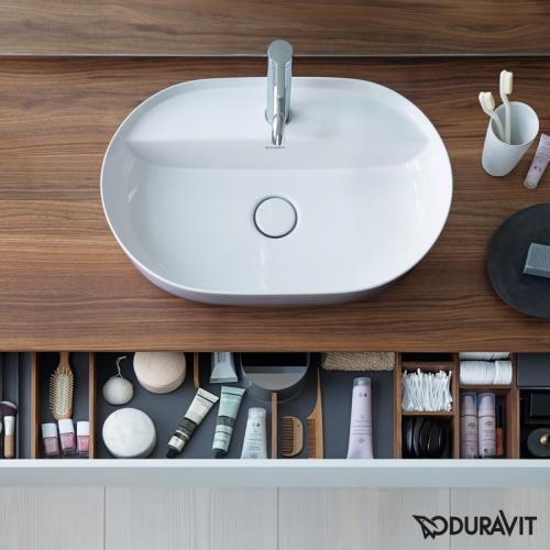 Duravit Luv Aufsatzwaschtisch weiß/grau matt