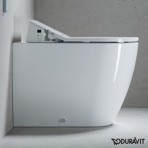 Duravit ME by Starck Stand-Tiefspül-WC für SensoWash®, back to wall weiß mit WonderGliss