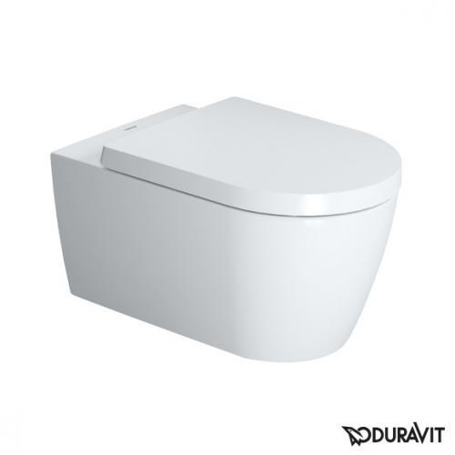 Duravit ME by Starck Wand-Tiefspül-WC rimless mit WC-Sitz weiß, mit Absenkautomatik soft-close