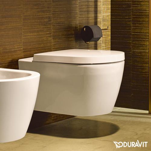 Duravit ME by Starck Wand-Tiefspül-WC, rimless weiß mit WonderGliss