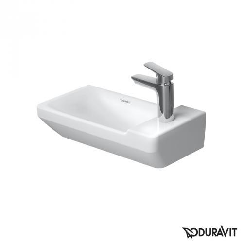 Duravit P3 Comforts Handwaschbecken weiß, mit WonderGliss, mit 1 Hahnloch