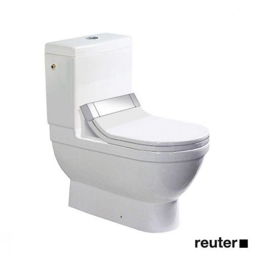 Duravit Starck 3 Stand-Tiefspül-WC Kombination für SensoWash® weiß