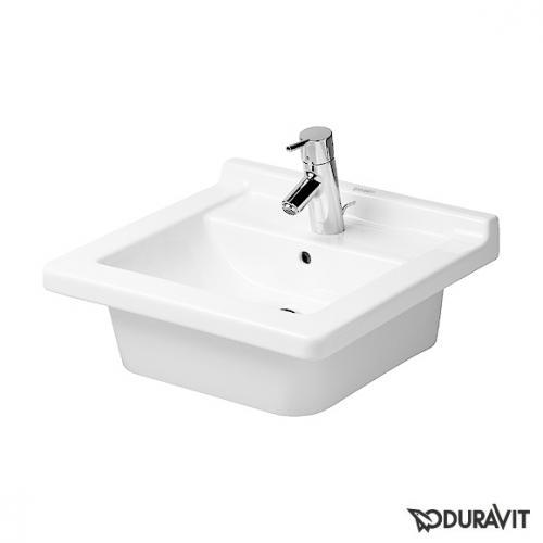 Duravit Starck 3 Waschtisch weiß, mit 1 Hahnloch, geschliffen