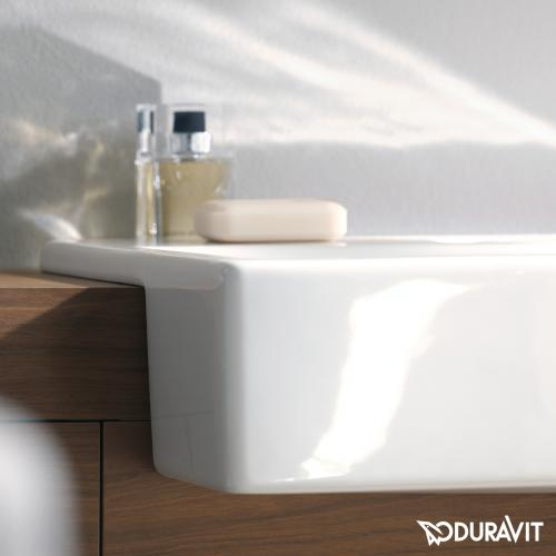 Duravit Vero Halbeinbauwaschtisch weiß, mit 1 Hahnloch