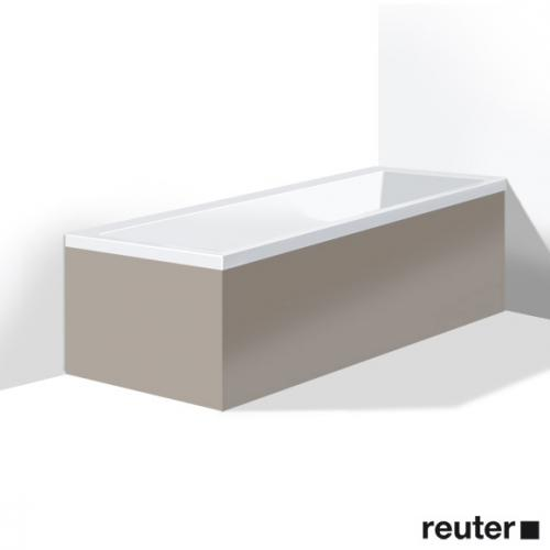 Duravit Vero Möbelverkleidung für Bade-/Whirlwanne, Ecke rechts basalt matt
