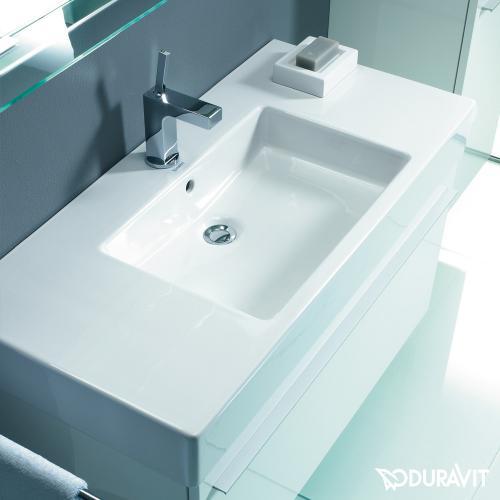 duravit vero m belwaschtisch wei mit 1 hahnloch mit. Black Bedroom Furniture Sets. Home Design Ideas