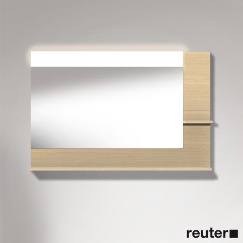 Duravit Vero Spiegel mit LED-Beleuchtung, Ablageflächen unten & rechts mediterrane eiche