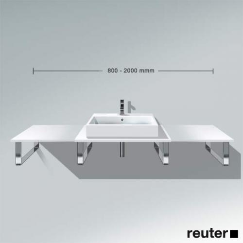 Duravit X-Large Konsole Vorwand für Aufsatz-/Einbauwaschtisch weiß matt