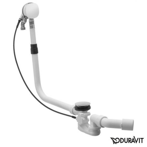 Duravit Ab- und Überlaufgarnitur Quadroval, mit Wanneneinlauf